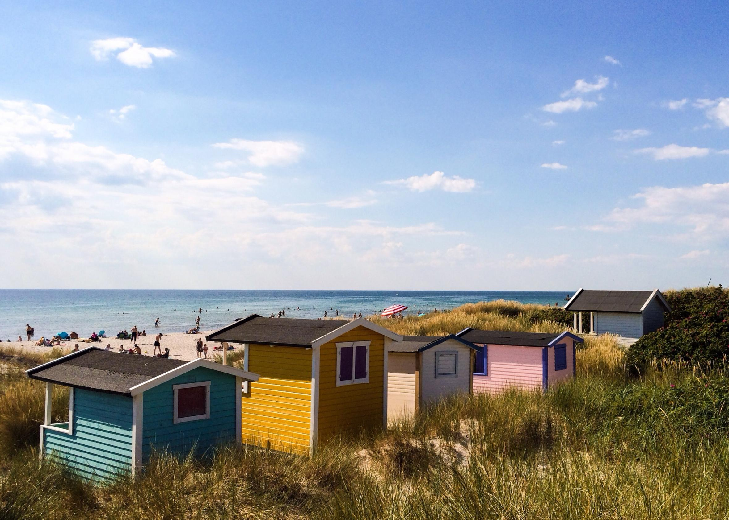 beach huts in Skanör
