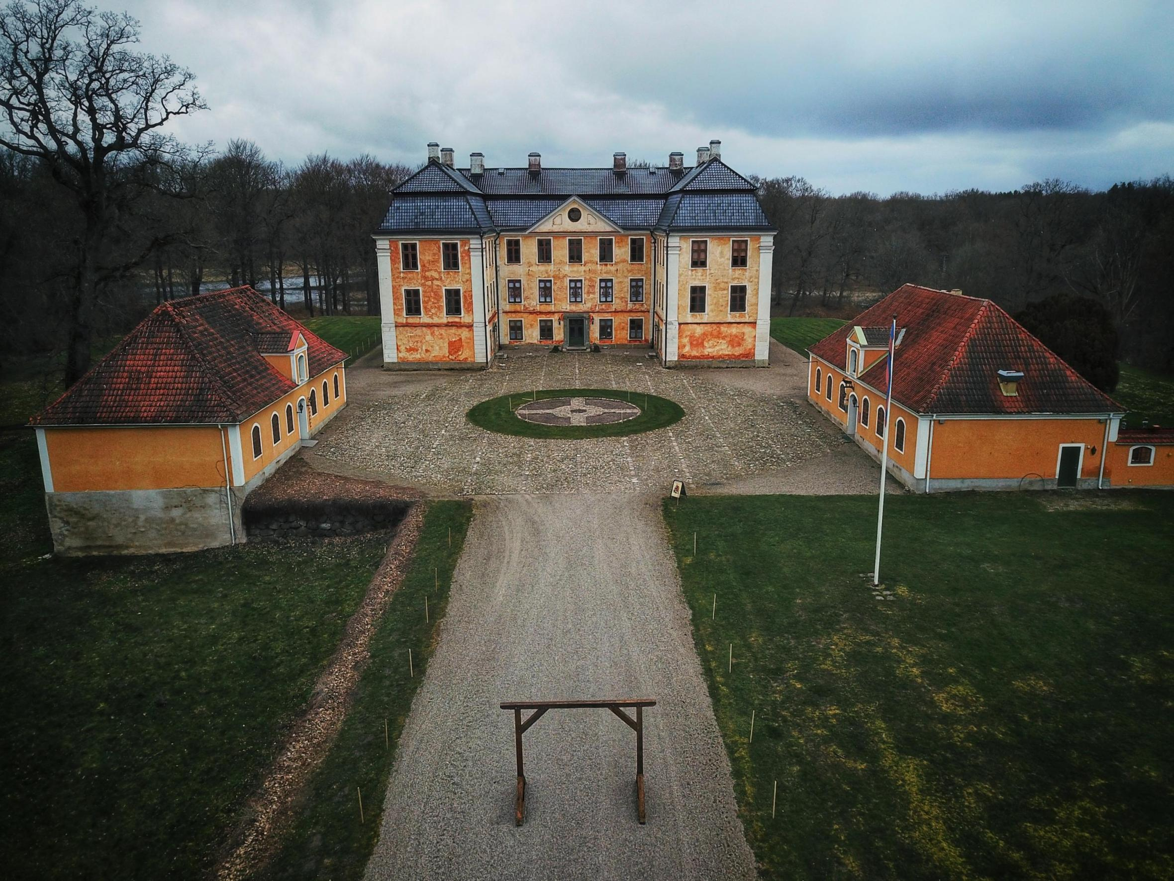 Christinehof castle with a view from above