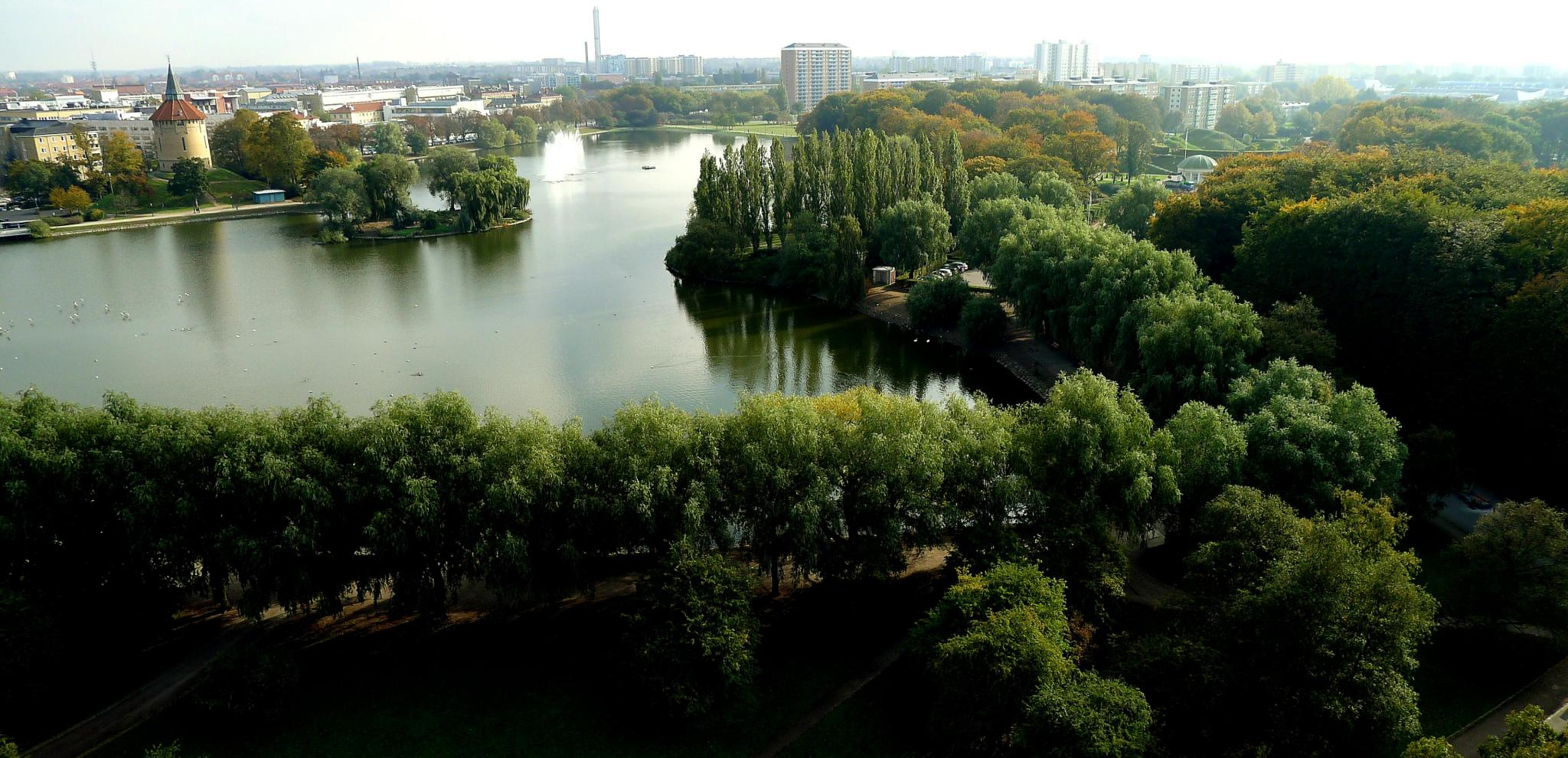 Birdview over Pildammsparken