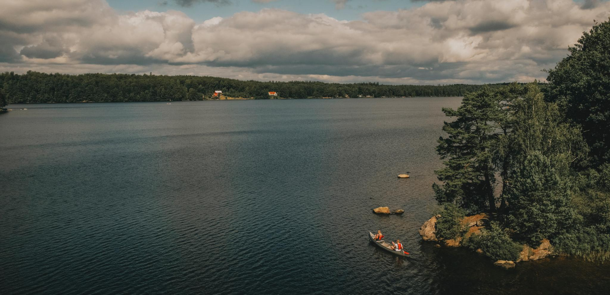 Lake Immeln from above taken by drone