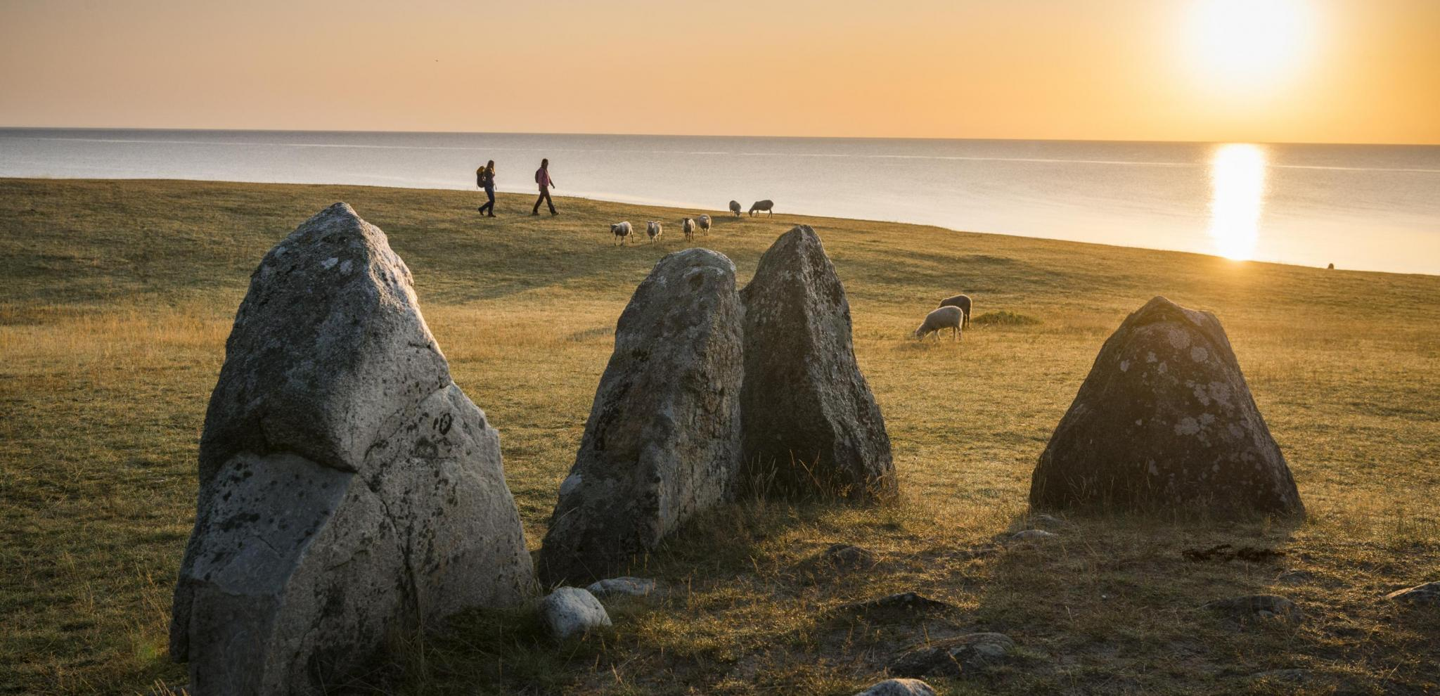Ales Stones in the sunset