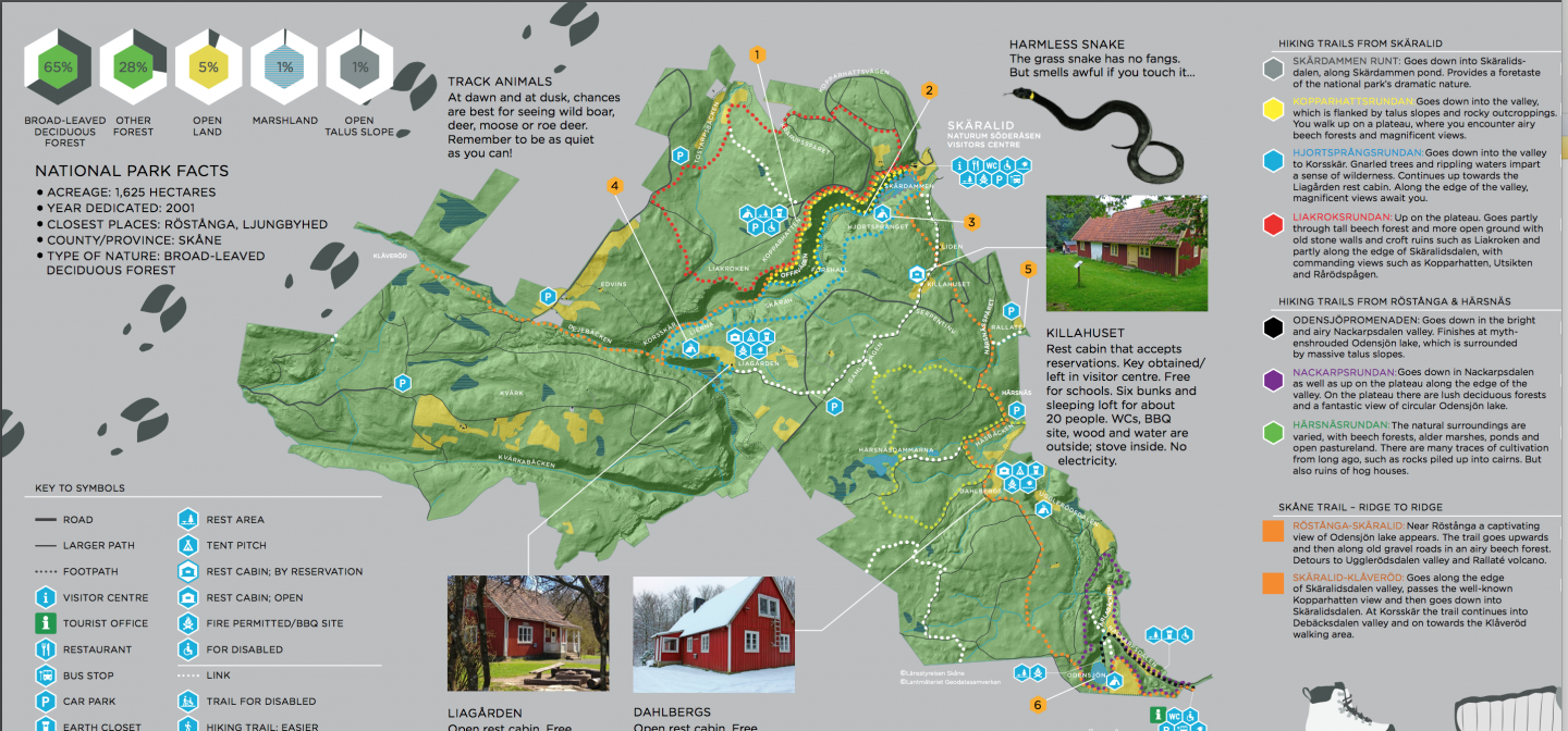 Interactive map over Söderåsen