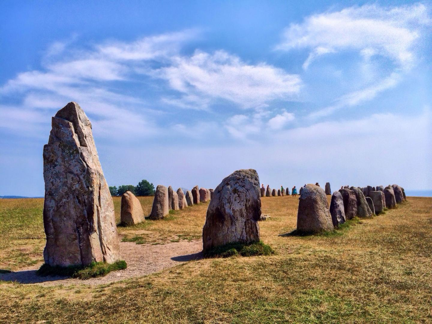 Ales Stones with blue sky