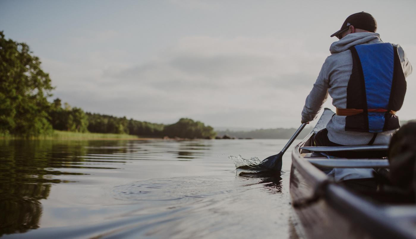 Canoeing in Lake Ivösjön