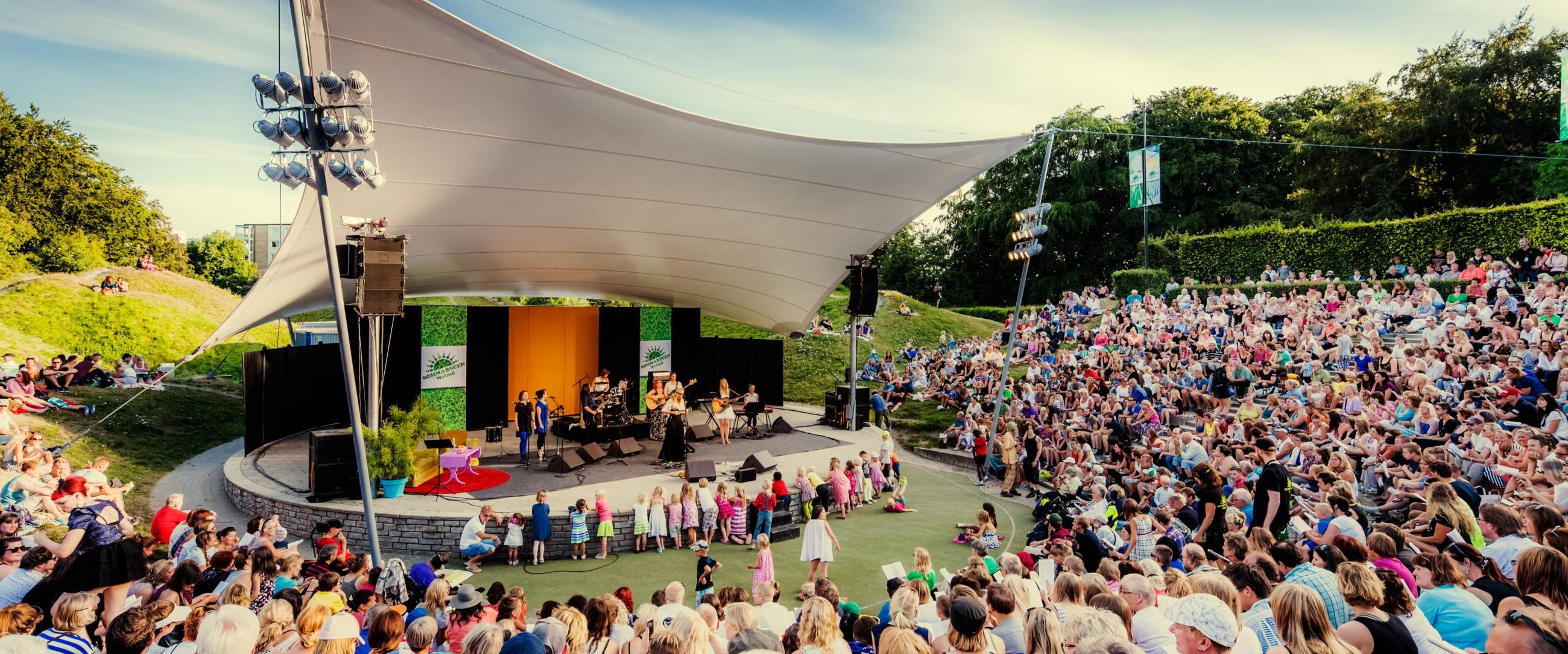 "The summer event ""Sommarscen"" in Malmö"