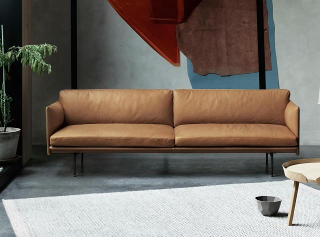 A leather sofa by the Swedish furniture manufacturer Svenssons i Lammhult