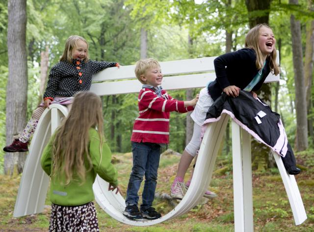 Children having fun at Wanås © Wanås