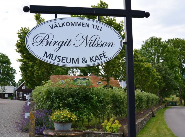 Sign to the Birgit Nilsson museum & cafe