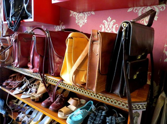 Vintage handbags and shoes